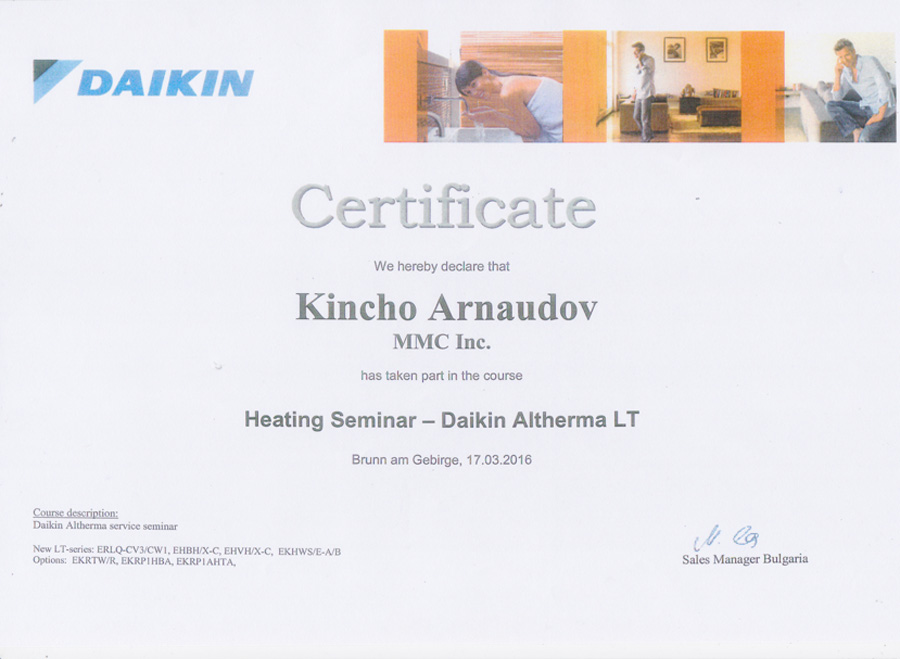 Heating Seminar - Daikin Altherma LT