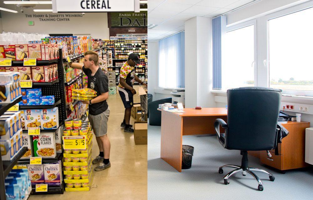 Вентилацията в магазини и офиси